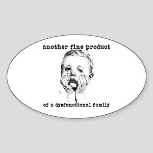 Dysfunctional Family Oval Sticker