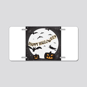 Happy Halloween Moon Aluminum License Plate