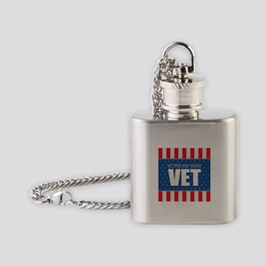 Korean War Vet Flask Necklace