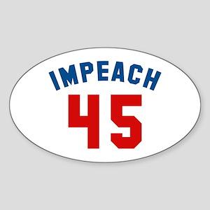 Impeach 45 Sticker