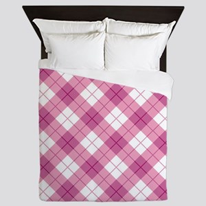 Pink Plaid Queen Duvet