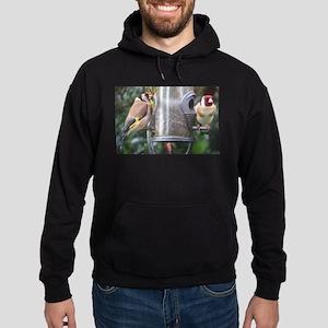 Goldfinches on garden feeder Sweatshirt