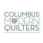 Columbus Modern Quilters Rectangle Car Magnet