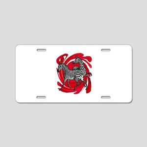 ZEBRAS Aluminum License Plate