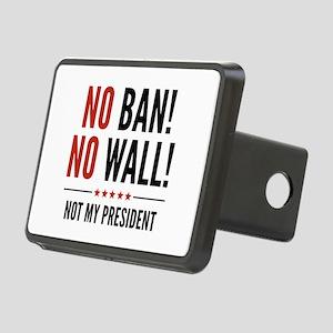 No Ban! No Wall! Rectangular Hitch Cover