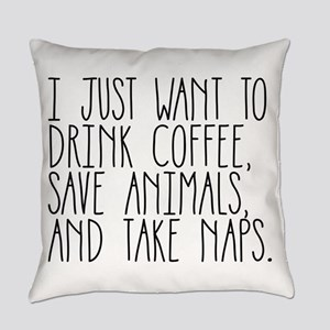 I Just Want to Drink Coffee, Save Everyday Pillow
