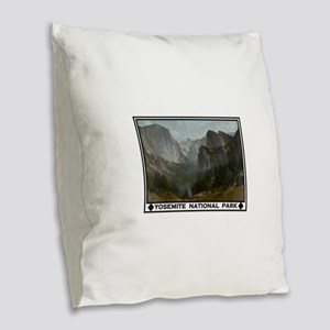 YOSEMITE Burlap Throw Pillow