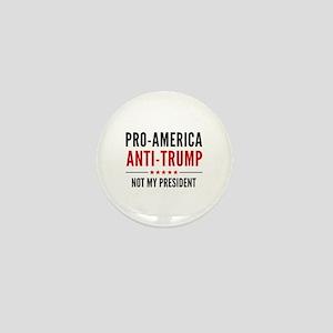 Pro-America Anti-Trump Mini Button