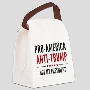 Pro-America Anti-Trump Canvas Lunch Bag