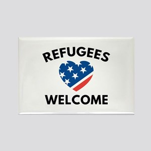 Refugees Welcome Rectangle Magnet
