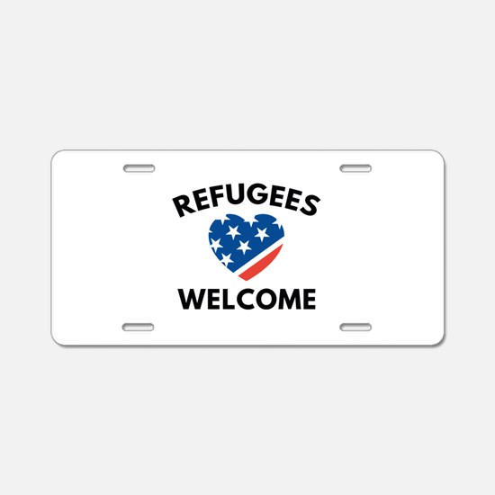 Refugees Welcome Aluminum License Plate