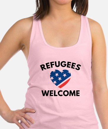 Refugees Welcome Racerback Tank Top