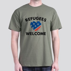 Refugees Welcome Dark T-Shirt