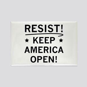 Keep America Open Rectangle Magnet