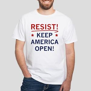 Keep America Open White T-Shirt