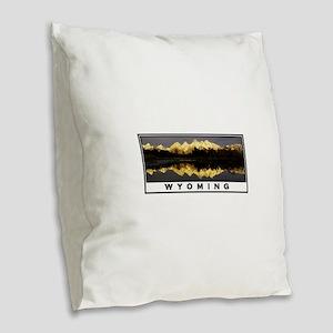 WYOMING Burlap Throw Pillow