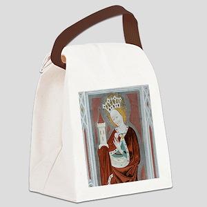 Saint Barbara 15th Century fresco Canvas Lunch Bag