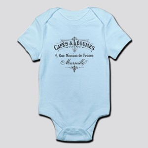 French Typography Paris Cafe Body Suit