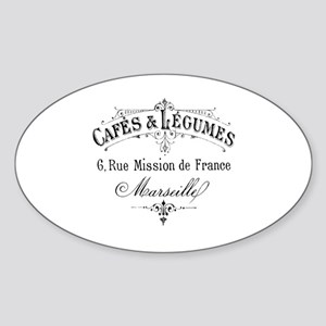 French Typography Paris Cafe Sticker