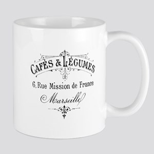 French Typography Paris Cafe Mugs