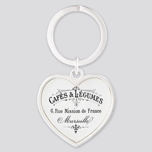French Typography Paris Cafe Keychains