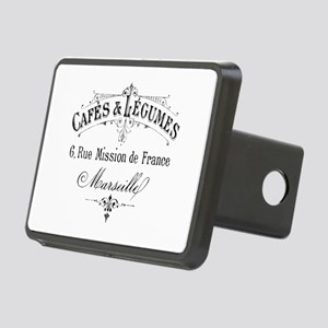 French Typography Paris Ca Rectangular Hitch Cover