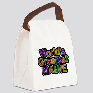 Worlds Greatest Mamie Canvas Lunch Bag