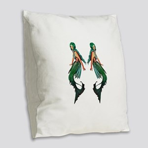 OCEANS Burlap Throw Pillow