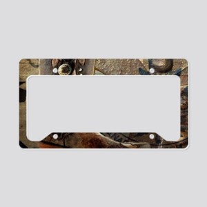 rustic western country cowboy License Plate Holder