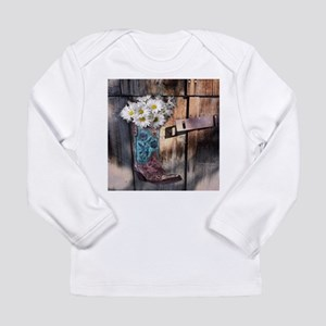 rustic daisy western country c Long Sleeve T-Shirt