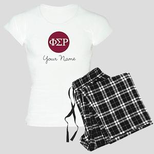 Phi Sigma Rho Letters Perso Women's Light Pajamas