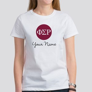 Phi Sigma Rho Letters Personalized Women's T-Shirt