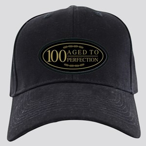Fancy 100th Birthday Black Cap
