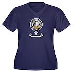 Badge - Majo Women's Plus Size V-Neck Dark T-Shirt