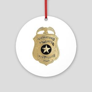 International Private Investigator Round Ornament