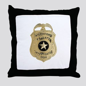 International Private Investigator Throw Pillow