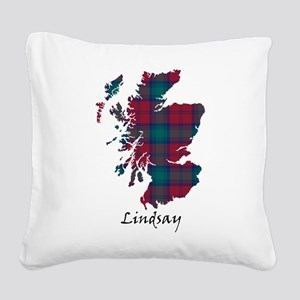 Map - Lindsay Square Canvas Pillow