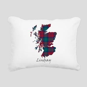 Map - Lindsay Rectangular Canvas Pillow