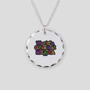 World's Greatest Meagan Necklace Circle Charm