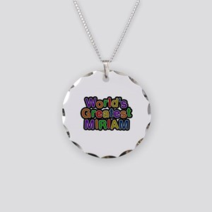 World's Greatest Miriam Necklace Circle Charm