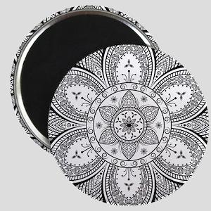 Mandala Flower Design Magnets