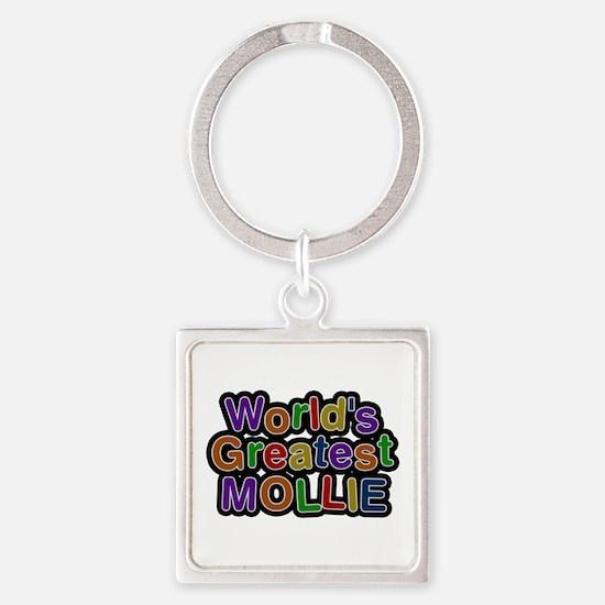 World's Greatest Mollie Square Keychain
