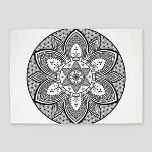 Mandala Flower Design 5'x7'Area Rug