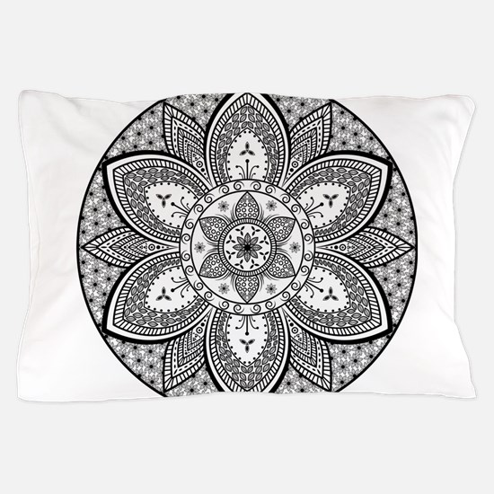 Mandala Flower Design Pillow Case
