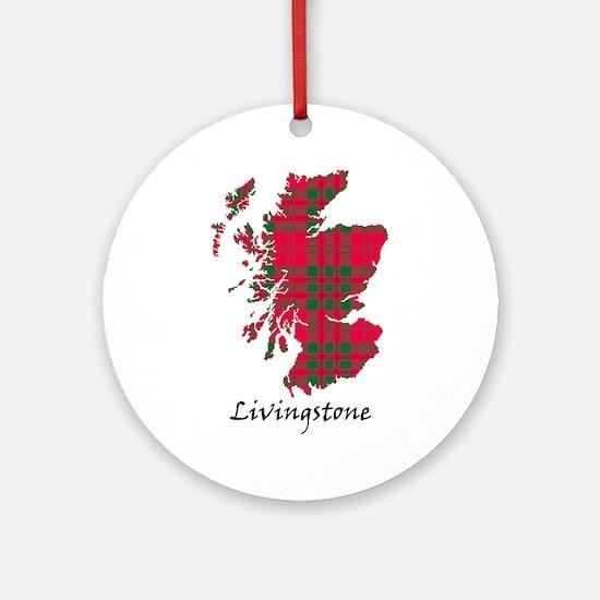 Map - Livingstone Ornament (Round)