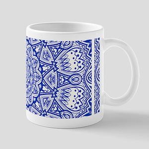 Blue Mediterranean Tile Pattern Mug