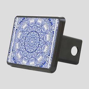 Blue Mediterranean Tile Pa Rectangular Hitch Cover