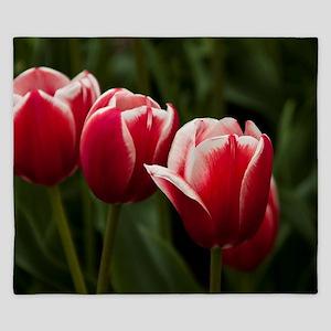 Spring Tulips King Duvet