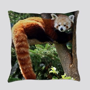 Lounging Red Panda Everyday Pillow