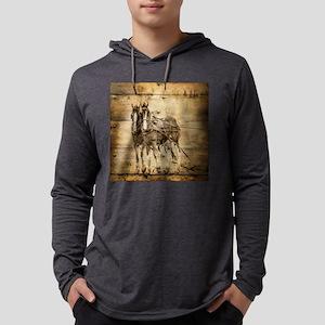 western country farm horse Long Sleeve T-Shirt